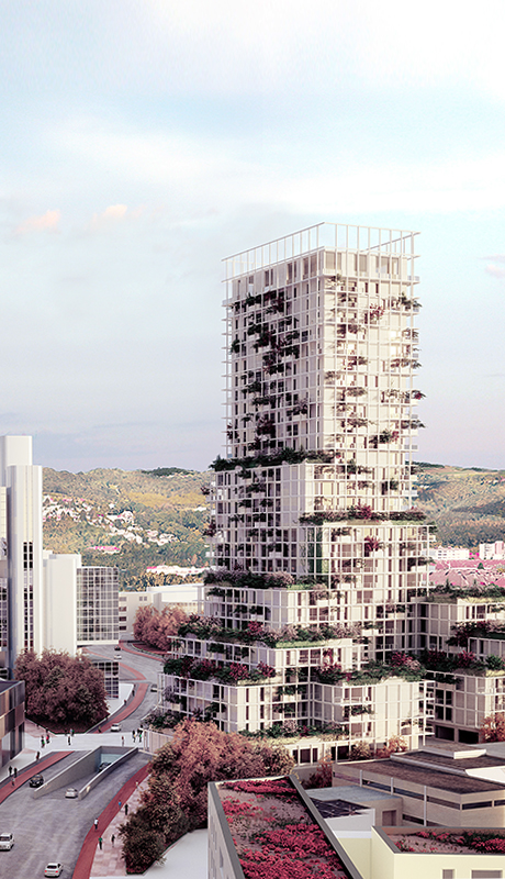 Grid Garden Tower Linz